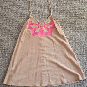 Julie brown embroidered dress